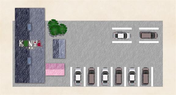 薫家(くんや)の駐車場